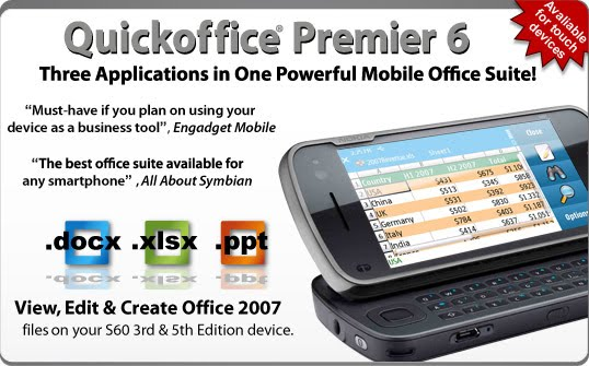 Office suite 45 for symbian series 60 3rd edition